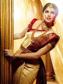 kerala wedding saree Indian Bridal Sarees, South Indian Sarees, Bridal Silk Saree, Indian Bridal Wear, South Indian Bride, Indian Wear, Bengali Saree, Indian Attire, Indian Outfits
