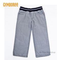 GYM0504 - QUẦN BABY GYMBOREE. ✏ Chất kaki cotton mềm mịn, 2 túi phía sau, quần ôm vừa vặn vào người bé, quần sẽ không bị tuột khi bé cử động. Lưng thun được cắt may khéo léo và tỉ mỉ, có độ co giãn chứ không làm hằn da như những loại thông thường. ✏ Hàng xuất xịn.  ✏ Màu: y như hình. ✏ Size: nhiều size (18-24MONTHS, 2Y, 3Y, 4Y, 5Y). Số đo size 18-24 months (dài: 78.5-84, nặng: 12-13.5) ***LINK FACEBOOK: https://www.facebook.com/Anthaoworkshop HOTLINE: 0949.790.708