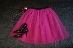 Tulle skirt bright pink handmade. Order by message or visit my shop https://www.facebook.com/cheremyha.store