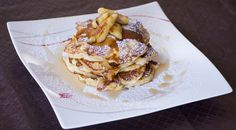 Ricotta Pancakes with Maple Syrup and Caramelised Banana