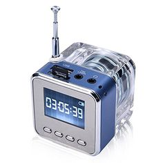 Novelty Bedside Radio MultiFunction Gadget Mini Music Player Transparent Classic Style Suit for Travel Camping Picnic Relax in the garden Outdoor Activities etc Best Gift L7e2