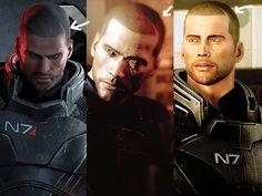 Mass Effect's Default Male Shepard's buzz cut