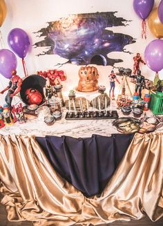 Infinity War 4th Birthday Themed Party  | CatchMyParty.com