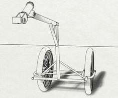 Biga, the Bike Trailer : 15 Steps (with Pictures) - Instructables Arc Welding Machine, Bike Cart, Shielded Metal Arc Welding, Mountain Bike Frames, White Spray Paint, Cargo Bike, Bike Design, Tricycle, Tail Light