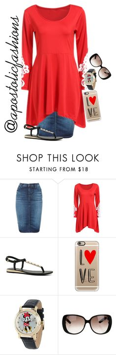 """Apostolic Fashions #1447"" by apostolicfashions ❤ liked on Polyvore featuring Diesel, ALDO, Casetify, Disney, Gucci, modestlykay and modestlywhit"