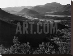 Rocky Mountain National Park, Colorado, ca. 1941-1942 Stretched Canvas Print by Ansel Adams at Art.com