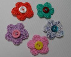 bloemetjes haken (stokjes in de ring steken) - crochet flowers  incl. You Tube filmpje