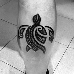 100 Turtle Tattoos For Men - Hard Shell Design Ideas Tribal Turtle Tattoos, Turtle Tattoo Designs, Tattoo Designs Men, Hawaiian Turtle Tattoos, Turtle Henna, Small Turtle Tattoo, Hawaii Tattoos, Polynesian Tattoos, Shell Tattoos