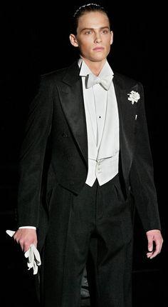 Black waistcoat and bow tie
