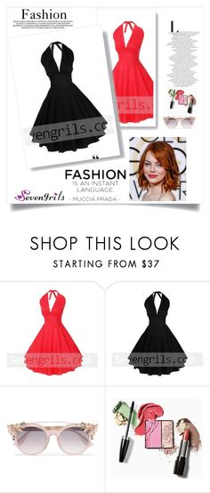 """""""Sevengrils"""" by dilruha ❤ liked on Polyvore featuring Jimmy Choo and vintage"""