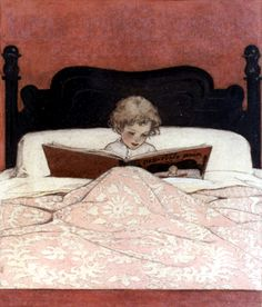 I vow that I will pass   my love of reading   in bed onto my children.