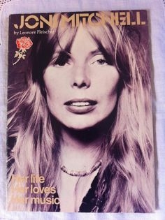 JONI MITCHELL Biography 1976 by Leonore Fleischer.  Laurel Canyon. Canadian Folk 60s on Etsy