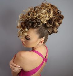 Balage Hair, Curly Hair Updo, Long Curly Hair, Big Hair, Hair Up Styles, Updo Styles, Natural Hair Styles, Summer Hairstyles, Up Hairstyles