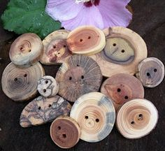Wooden Buttons. I love these!