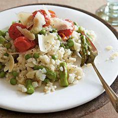 Risotto Primavera Healthy Budget Recipe | CookingLight.com