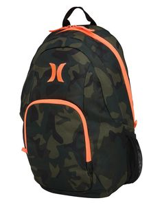 Hurley On & Only Backpack 20L - Pink/Camo  Model: One&Only 100% Polyester Basic school backpack Exterior zip pockets Mesh side pockets Adjustable padded shoulder straps Colour: Camo/Neon Pink-Orange  Dimensions: 43 x 31 x 21cm or 17x12x8 Inch Volume: 20L #hurley #bag #backpack #snowboarding #surf #skate # winter #fashion #outdoor #travel #christmas #gift #ideas #unisex
