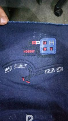Denim Jeans, Man Jeans, My Design, Logo Design, Textiles, Jansport Backpack, Shirt Outfit, Kids Fashion, Embroidery