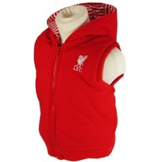 Official Liverpool FC Baby Red Hooded Vest - AnfieldSHop.com