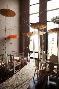 hanging mania......love these umbrellas
