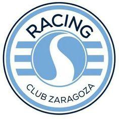 Racing Club Zaragoza Football Team Logos, Sports Clubs, Lululemon Logo, Badge, Racing, San, Handgun, Hs Football, Football Team