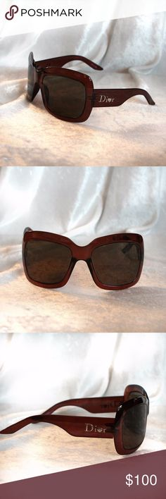 Christian Dior Extralight DTS HD Sunnies Christian Dior Extralight DTS HD Sunglasses Very chic and using very light technology you won't even feel they are on, still over sized but virtually weightless. Gently used condition minor minor fine scratches that in no way interfere with vision. These are brown on brown, CHIC  I would not offer it unless I would be proud to wear them myself.  All of my items are Guaranteed 100% Genuine I do not sell FAKES of any kind! NO TRADES (DiorS093) Christian…