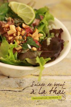 Salade de boeuf thai SALADE DE BOEUF À LA THAI
