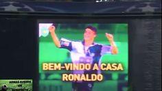 Reacción de Cristiano Ronaldo al homenaje de los aficionados del Sporting de Lisboa durante el partido ante el Real Madrid en Champions. Cristiano Ronaldo se mostró conmovido al ver sus recuerdos del inicio de su carrera en el fútbol en Portugal.  Reacção de Cristiano Ronaldo para o tributo de fãs Sporting de Lisboa durante o jogo contra o Real Madrid na Liga dos Campeões. Cristiano Ronaldo ficou comovido por suas lembranças do início de sua carreira no futebol em Portugal.