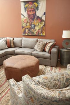 Milford Sectional, Gaylord Chair and Octavia Ottoman