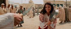 Don't bring a pan to a knife fight... Karen Allen as Marion Ravenwood in #IndianaJones and the Raiders of the Lost Ark (1981).