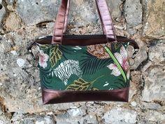 Sac Java en simili bronze et imprimé floral cousu par Doria - Patron Sacôtin