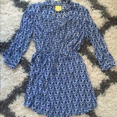 Anthropologie brand Maeve dress, size small Maeve dress, size small. 100% polyester, bottom half is lined. Elastic waist with drawstring. Measures approximately 35 inches from shoulder to hem. Anthropologie Dresses Long Sleeve