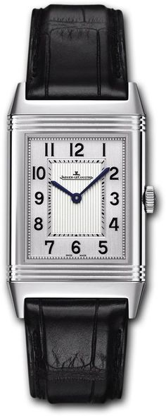 @jlcwatches Watch Reverso Grande Ultra Thin #bezel-fixed #bracelet-strap-alligator #brand-jaeger-lecoultre #buckle-type-tang-type-buckle #case-depth-7-2mm #case-material-steel #case-width-27-5-x-46mm #delivery-timescale-4-7-days #dial-colour-silver #gende