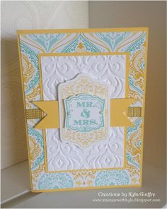 Stampin' Up Handmade Wedding Card, eastern elegance, chalk talk, label love, stampin up,