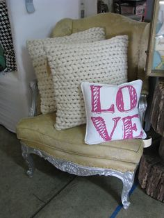 yummy knit pillows