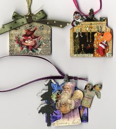 Festive ornaments by Laura Carson on Artfully Musing blog