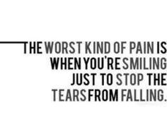 So so true... You try to paint on a smile to be strong for your other children, and its so so hard.