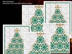 Golden Green Christmas Cross Stitch Pattern by CamisTheCrossStitch