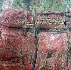 China/ В прошлом году Китай запустил в космос свой первый спутник, с помощью которого в том числе можно получить изображения в высоком разрешении. На этом кадре, например, видны высохшие речные долины в горной местности, а красные и коричневые тона обозначают разные типы растительности.