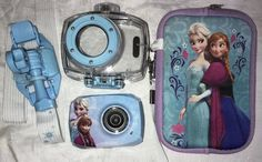 Disney Frozen camera camcorder waterproof w/strap mount waterproof case zip case  | eBay