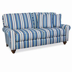 Summer House Upholstered Furniture, Annapolis Upholstered Upholstered Loveseat, Turned Leg