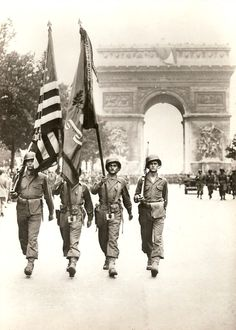 The Victory Parade in Paris, 29 August 1944