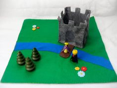 Felt Castle Play Set  Waldorf and Montessori by thefairyfeltmother, $28.00