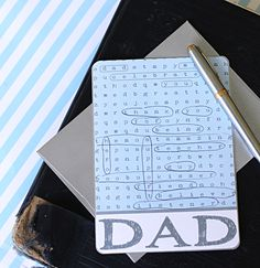 Father's Day Card Game. Would be fun for him to do while he eats his breakfast in bed. :)