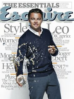 "Leonardo DiCaprio may be one of Hollywood's most respected actors, but the ""Shutter Island"" star took his Esquire cover story in the March 2010 issue as a chance to talk about his Hollywood heroes. Leonardo Dicaprio, Gq, Esquire, Jack Nicholson, Gorgeous Men, Beautiful People, Pretty People, Magazin Covers, Sean Penn"