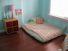 More baby room inspiration.  I love the kids size dresser with a few outfits in each for the child to choose.