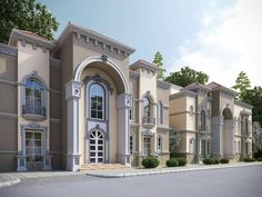 Classic House Exterior, Classic House Design, Modern House Design, House Outside Design, House Front Design, Villa Design, Bungalow Haus Design, Village House Design, Home Building Design