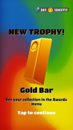 Gold Bar in Subway Surfers