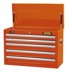 Stanley 26 in. 5-Drawer Wide Tool Chest in Orange-H5CHSO - The Home Depot