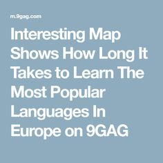 Poster Groupe EUROPE OK Magazine Cm X Cm Delcampenet - This map shows how long it takes to learn different languages