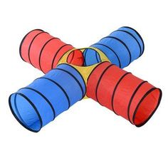 This PawHut 3 colour 4 way Cat/Dog tunnel is an ideal play accessory for your Cat/Dog, made from 90T polyester cloth with steel wire lining to keep shape. It has a lightweight design so it can be taken with you on your travels. The tunnels is designed with three colours and in the centre section it is translucent so you can see your pet travel through the tunnel. It can be easily cleaned and stored when not in use. A great accessory to keep your pet entertained for hours. Features: ...